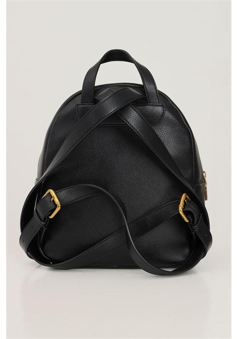 Zaino donna nero love moschino con applicazione logo e catena sulla tasca frontale LOVE MOSCHINO | Zaini | JC4244PP0D-KC0000
