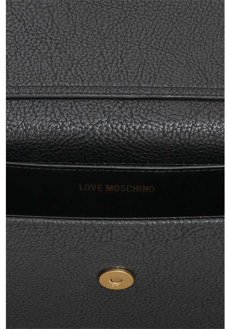 Borsa donna nero love moschino con tracolla in catena LOVE MOSCHINO | Borse | JC4291PP0D-KC0000