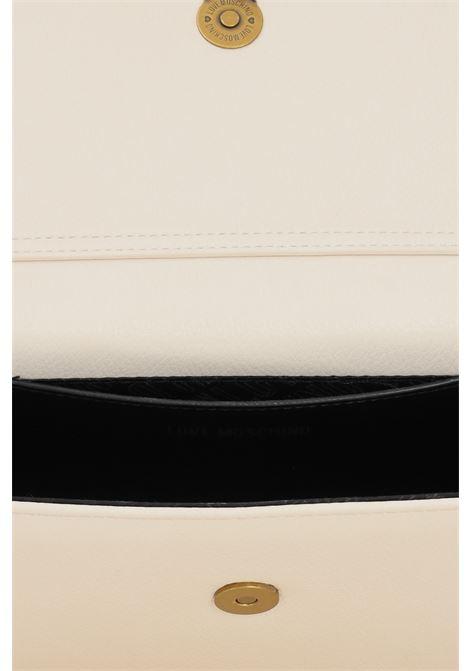 Borsa donna panna love moschino con tracolla in catena LOVE MOSCHINO | Borse | JC4291PP0D-KC0110