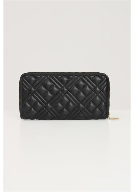 Black women's wallet with gold logo in rilief quilted effect love moschino LOVE MOSCHINO | Wallet | JC5600PP1D-LA0000