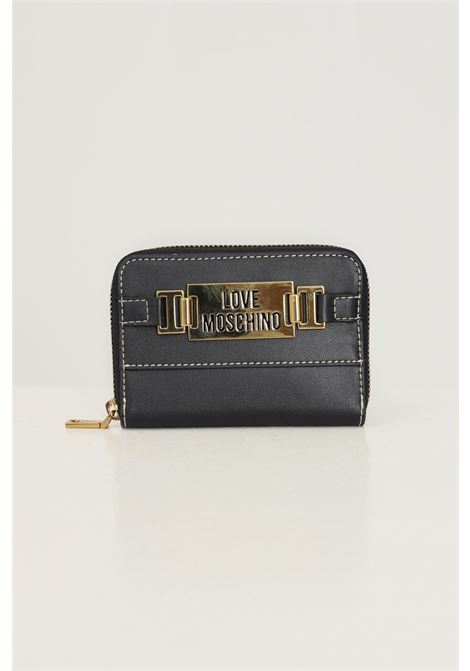 Black women's wallet by love moschino with gold logo application LOVE MOSCHINO | Wallet | JC5609PP0D-KB0000