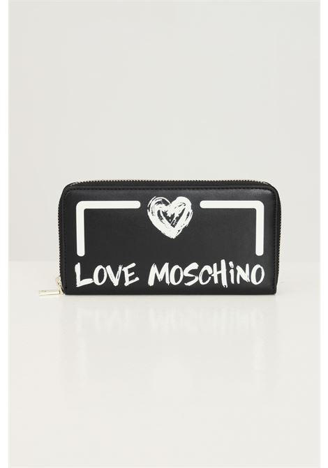 Black women's wallet by love moschino with contrasting logo LOVE MOSCHINO | Wallet | JC5665PP0D-KE100A