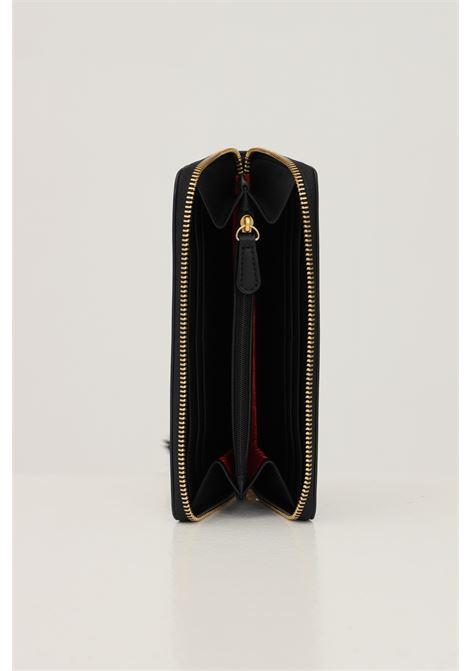 Portafogli donna nero love moschino con logo frontale in rilievo LOVE MOSCHINO | Portafogli | JC5673PP0D-KN0000