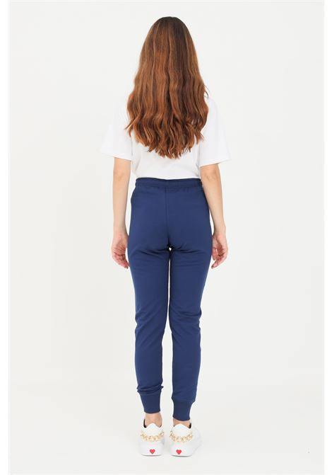 Blue women's trousers by love moschino with embroidered logo LOVE MOSCHINO | Pants | W142423E2269Y58