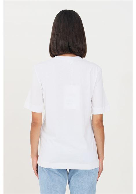T-shirt donna bianco love moschino a manica corta con stampa frontale LOVE MOSCHINO | T-shirt | W4F153EM3876A00