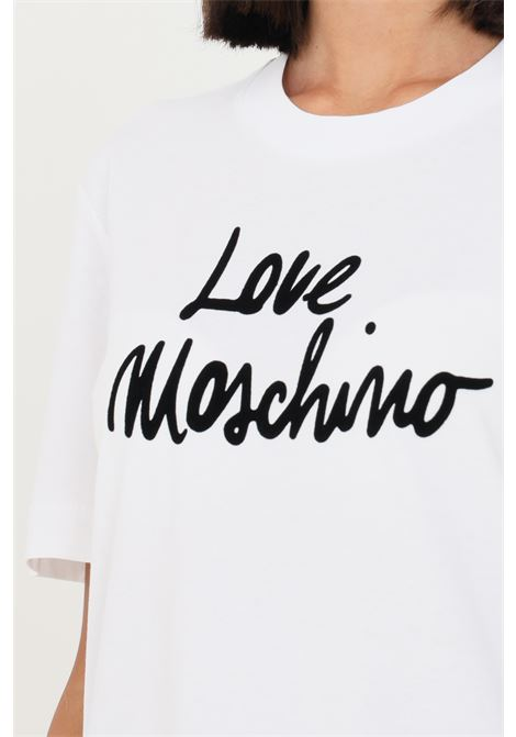 T-shirt donna bianco love moschino con stampa sul fronte LOVE MOSCHINO | T-shirt | W4H0618M3876A00