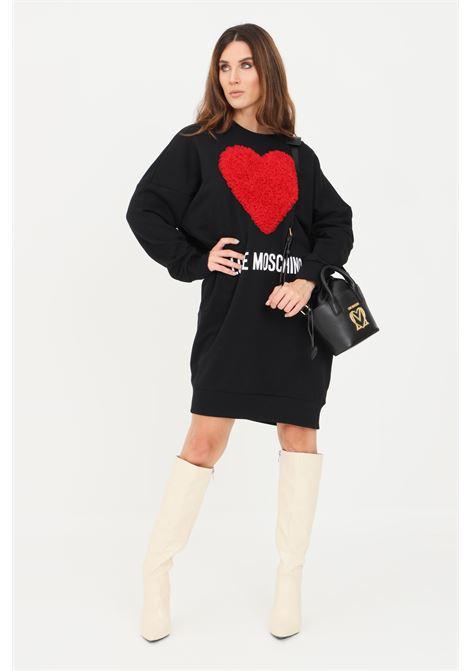 Black women's dress by moschino with ruffles LOVE MOSCHINO | Dress | W5A4806M40554005