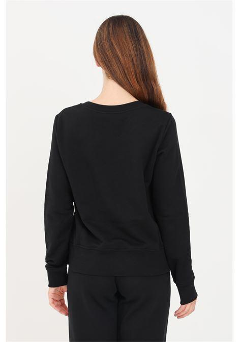 Black women's sweatshirt by love moschino with print on the front LOVE MOSCHINO | Sweatshirt | W632206M4055C74