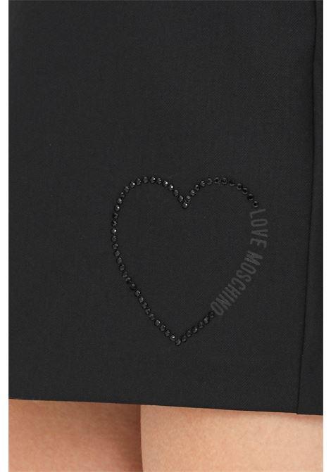 Black skirt with invisible zip, short cut LOVE MOSCHINO | Skirt | WGE2902S3437C74