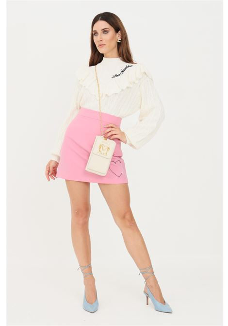 Pink skirt with invisible zip, short cut LOVE MOSCHINO | Skirt | WGE2902S3437L89