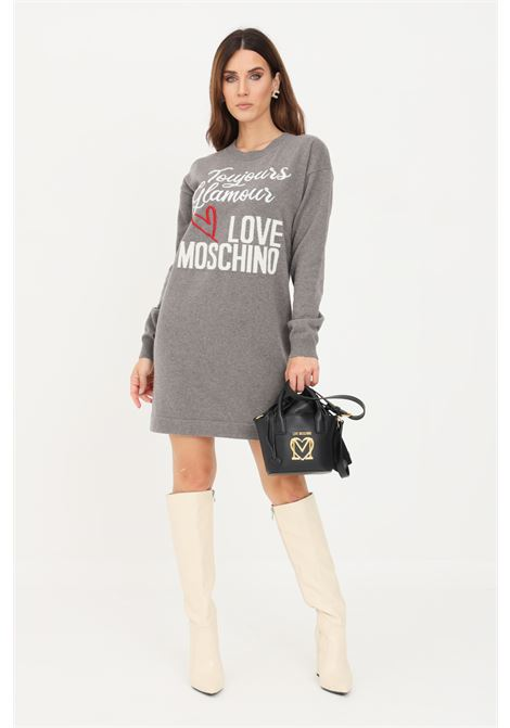 Grey women's dress by moschino short cut LOVE MOSCHINO | Dress | WS57R11X1434C15