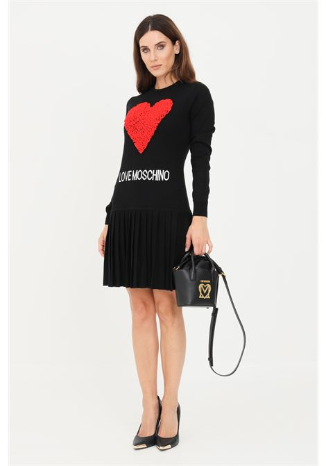 Black knitted dress by love moschino LOVE MOSCHINO | Dress | WS60R11X13064005