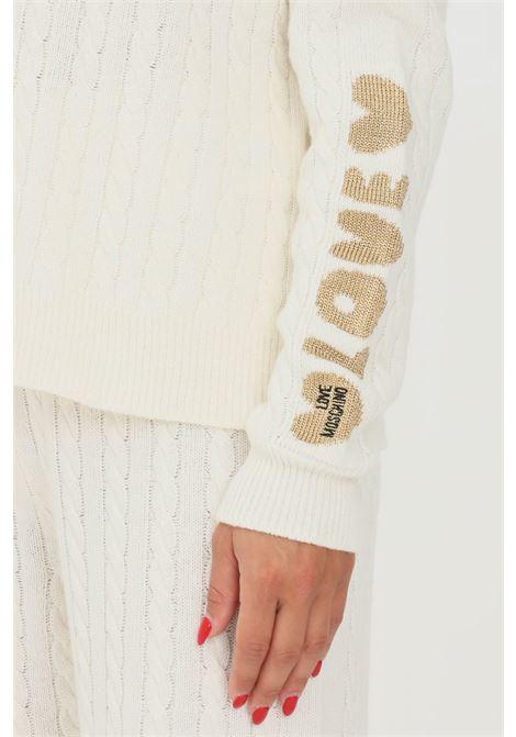 Maglioncino donna bianco love moschino a collo alto LOVE MOSCHINO | Maglieria | WSD2711X1449A01