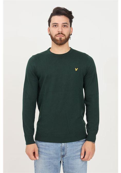 Maglioncino uomo verde scuro lyle & scott modello girocollo LYLE & SCOTT | Maglieria | LSKN400VCKN400VCW486