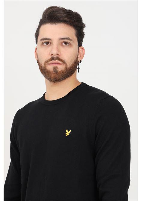 Maglioncino uomo nero lyle & scott modello girocollo LYLE & SCOTT | Maglieria | LSKN400VCKN400VCZ865