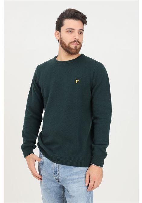 Maglioncino uomo verde lyle & scott modello girocollo LYLE & SCOTT | Maglieria | LSKN921VFKN921VFW507