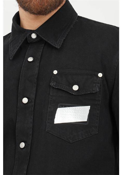 Black men's shirt by maison 9 paris, casual model with front pockets MAISON 9 PARIS   Shirt   M9CM439.