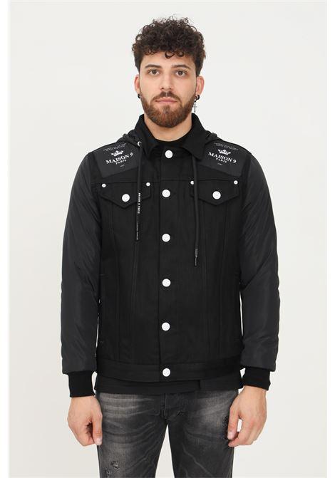 Black men's jacket by maison 9 paris, closure with buttons MAISON 9 PARIS   Jacket   M9G848NERO