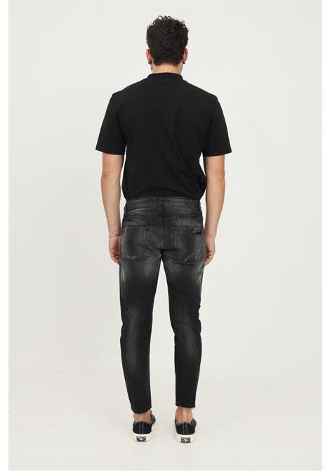 Black men's jeans by maison 9 paris with buttons MAISON 9 PARIS   Jeans   M9J142.