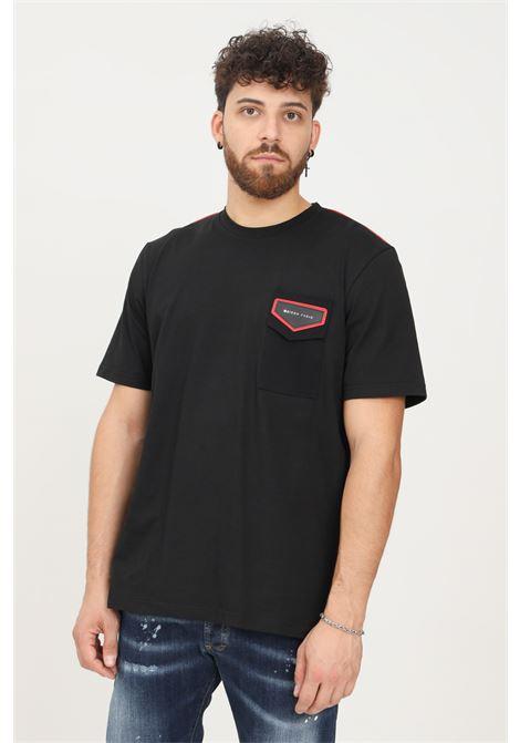 Black men's t-shirt by maison 9 paris with front pocket, short sleeve MAISON 9 PARIS   T-shirt   M9M2321NERO