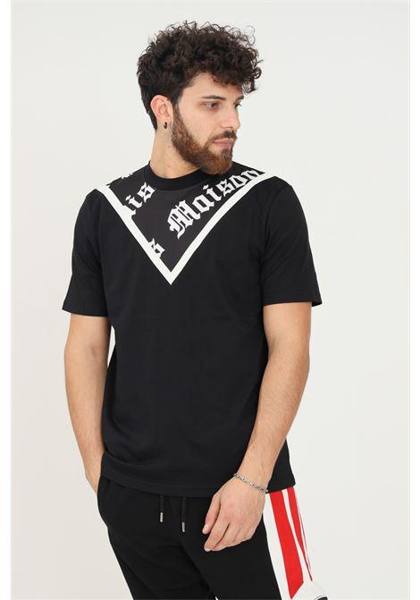 Black men's t-shirt by maison 9 paris, short sleeve MAISON 9 PARIS   T-shirt   M9M2357NERO-BIANCO