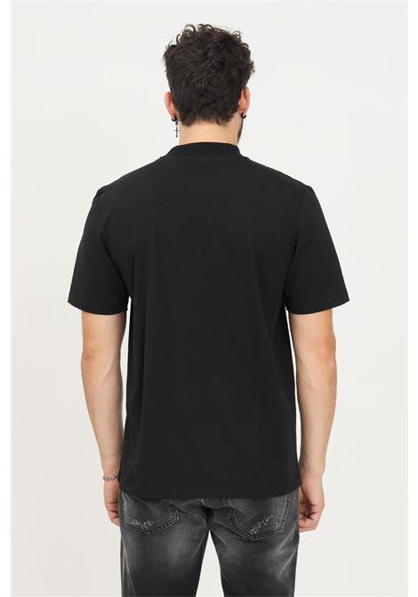 Black men's t-shirt by maison 9 paris with logo applications, short sleeve MAISON 9 PARIS   T-shirt   M9M2360NERO