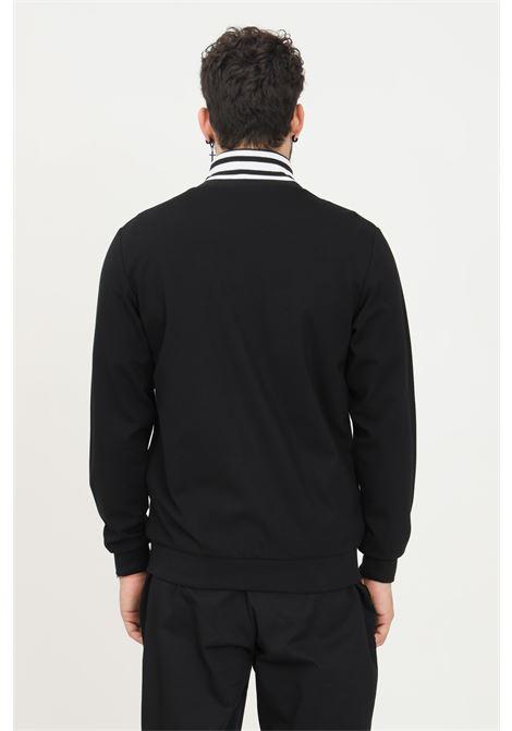 Black men's sweatshirt by maison 9 paris with zip on the front  MAISON 9 PARIS   Sweatshirt   M9MF2170NERO