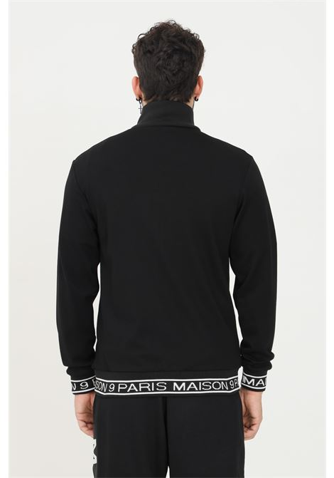 Black men's sweatshirt by maison 9 paris with zip MAISON 9 PARIS   Sweatshirt   M9MF2185NERO