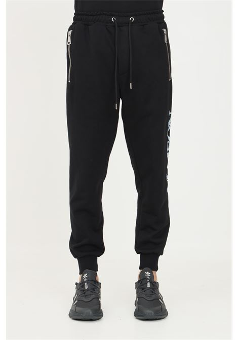 Black men's trousers by maison 9 paris, casual model with elastic waistband MAISON 9 PARIS   Pants   M9P4129NERO
