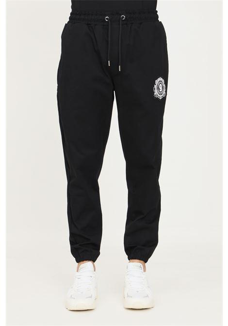 Black men's trousers by maison 9 paris, casual model with elastic waistband MAISON 9 PARIS   Pants   M9P4135NERO