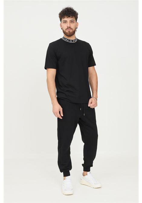 Black men's trousers by maison 9 paris, casual model with elastic waistband MAISON 9 PARIS   Pants   M9P4142NERO