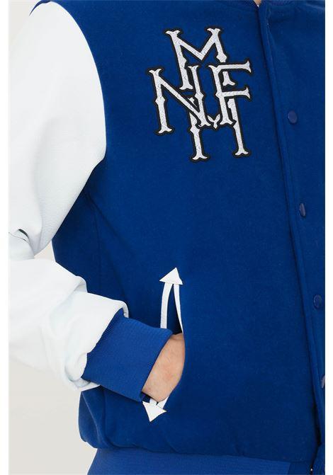 Giubbotto uomo blu make money con maniche in ecopelle MAKE MONEY | Giubbotti | MU210011ROYAL