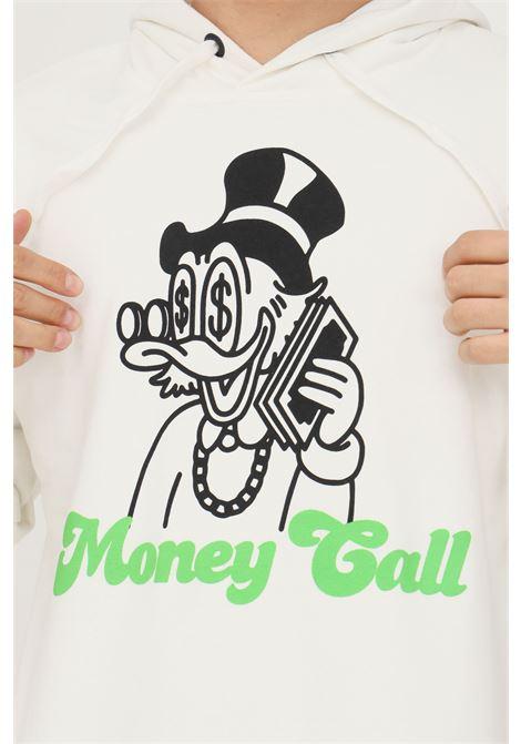 Felpa uomo bianco make money con cappuccio e maxi stampa zio paperone sul davanti MAKE MONEY   Felpe   MU210016BIANCO