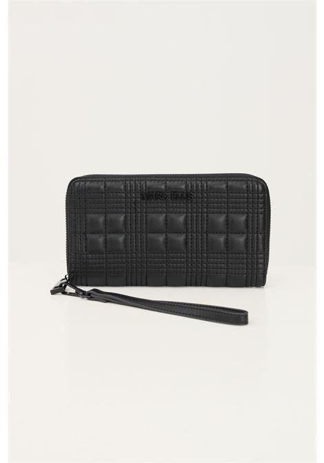 Black women's wallet by marc ellis with stitched texture MARC ELLIS | Wallet | ALENABLACK