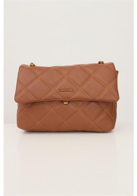 Cowhide women's ashlyn l bag by marc ellis with fixed shoulder strap in fabric and chain MARC ELLIS | Bag | ASHLYN LCUOIO