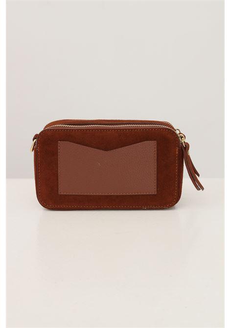 Brown women's diana s suede bag by marc ellis with removable shoulder strap MARC ELLIS | Bag | DAIANA S SUEDEBRUCIATO