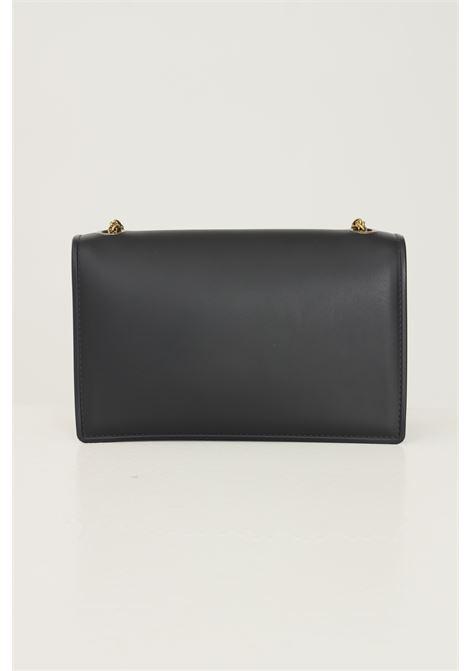 Black women's supermee m bag by marc ellis with chain shoulder strap MARC ELLIS | Bag | FLAT SUPERMEE MBLACK/OTTONE