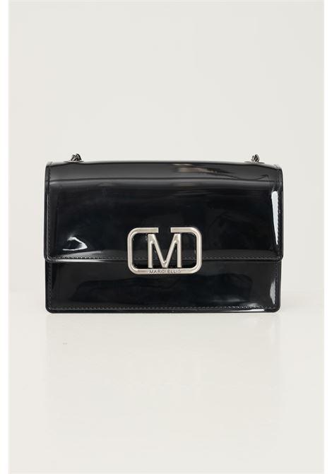 Black women's supermee m bag by marc ellis with chain shoulder strap MARC ELLIS | Bag | FLAT SUPERMEE MBLACK/PALLADIO