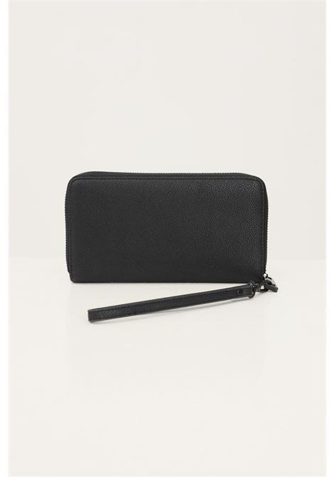 Black women's wallet by marc ellis with tone on tone logo and zip MARC ELLIS | Wallet | LALLYBLACK