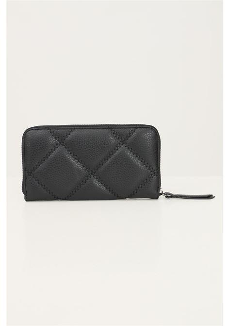 Black women's wallet by marc ellis with zip, stitching model MARC ELLIS | Wallet | MARVY QUILTBLACK/CDF