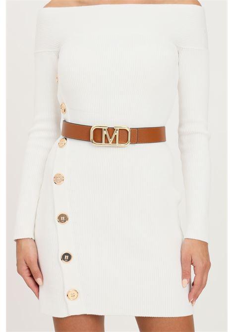Reversible women's belt by marc ellis with gold buckle MARC ELLIS | Belt | ME-BELTS/12BLACK/CUOIO