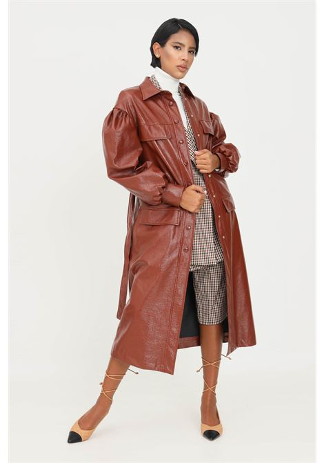 Trench coat by matilde couture, coated effect with slippers MATILDE COUTURE   Jacket   AMSTERDAM.MORO