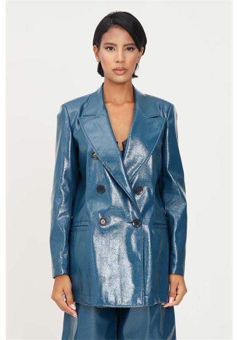 Giacca ottanio donna matilde couture ad effetto spalmato MATILDE COUTURE | Giacche | GLAM VERNICE.OTTANIO