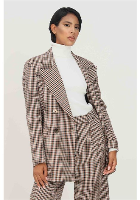Giacca fantasia donna matilde couture con spalline e bottoni MATILDE COUTURE | Giacche | GLAM VICHY.MORO