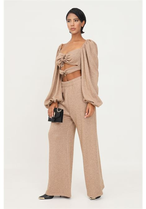 Camel women's trousers by matilde couture in lurex MATILDE COUTURE | Pants | PIA.CAMM.