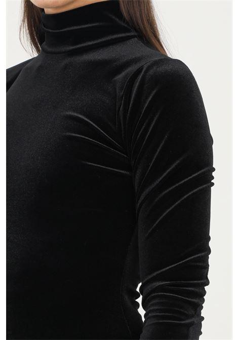Black dress in velvet by matinèe, short cut with high neck MATINèE | Dress | DP2002NERO