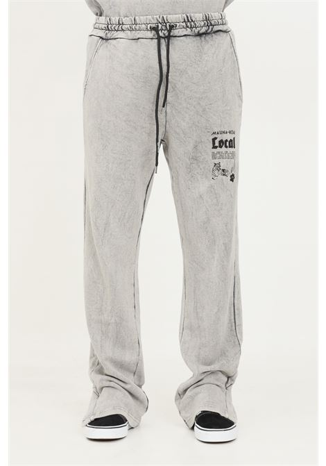 Grey men's trousers by mauna kea with elastic waistband MAUNA-KEA | Pants | LC264_SW999LOCAL FLARED