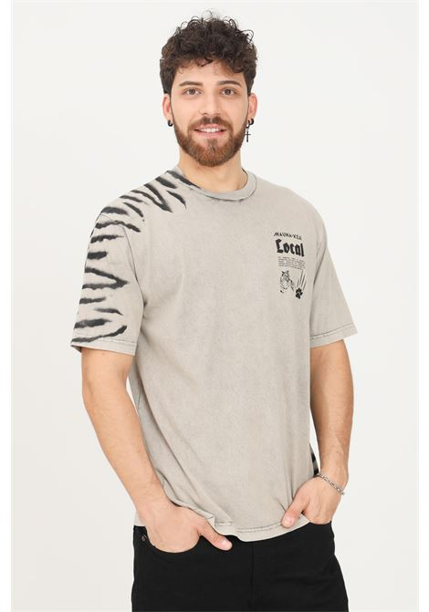 Beige men's t-shirt by mauna kea short sleeve MAUNA-KEA | T-shirt | LCM100_SW999TIGER