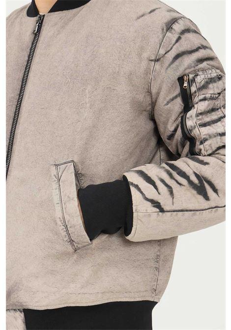 Beige men's jacket by mauna kea with zip on the front MAUNA-KEA | Jacket | LCM555_SW999TIGER