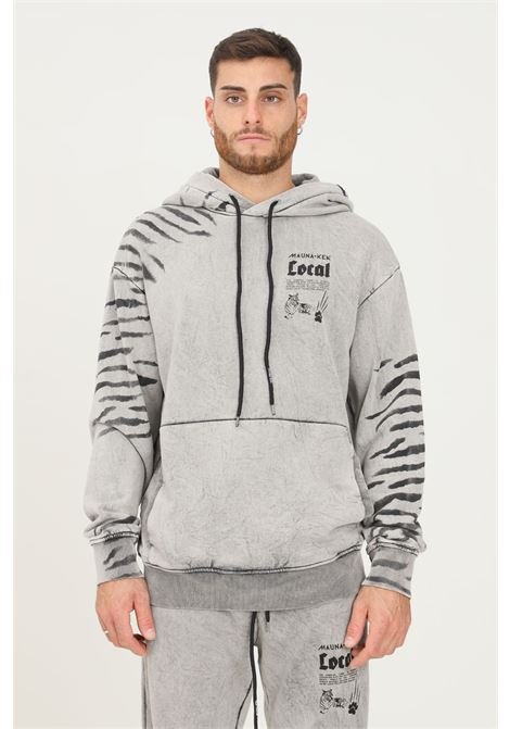 Grey men's tiger hoodie by mauna kea MAUNA-KEA | Sweatshirt | LCM622_SW999TIGER